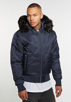 Hooded Basic Bomber navy