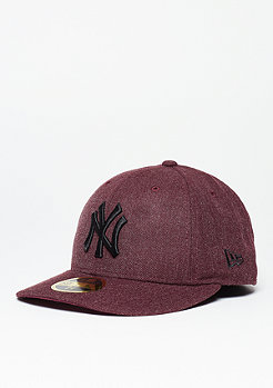 Fitted-Cap Low Crown 59Fifty MLB New York Yankees heather maroon/black