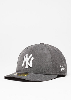 New Era Fitted-Cap Low Crown 59Fifty MLB New York Yankees heather grey/white