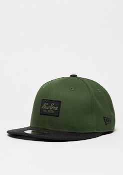 Snapback-Cap Contrast Heather Patch rifle green/black