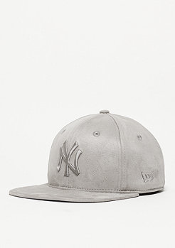 Snapback-Cap Suede Tone MLB New York Yankees grey