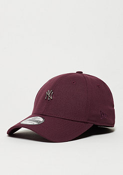 Baseball-Cap Metal Mini Logo MLB New York Yankees maroon
