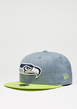 Fitted-Cap Heather Team NFL Seattle Seahawks grey/yellow