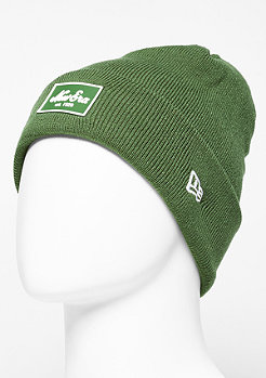 New Era Beanie Rubber Patch Cuff rifle green