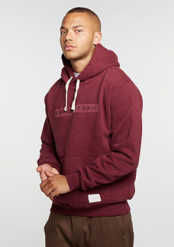 Hooded-Sweatshirt Hiber wine/wine