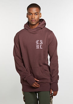 Hoody CSBL Our Father Long washed taupe/old pink