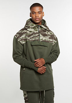 Hoody CSBL Section Loose Fit Half Zip olive/tiger camo