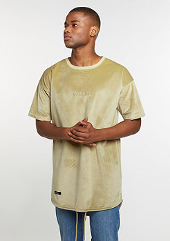 C&S Tee CSBL No Chill Drop Shoulder Scallop sand velvet