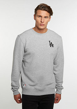 Crew Neck MLB Los Angeles Dodgers light heather grey