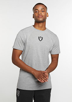 New Era T-Shirt Supporters NFL Oakland Raiders light grey heather