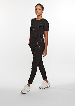 Latzhose Dungaree Zip black