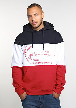 Hooded-Sweatshirt Stripes blue/white/red