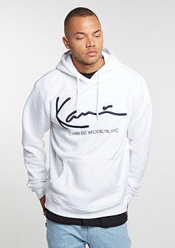 Hooded-Sweatshirt Retro white