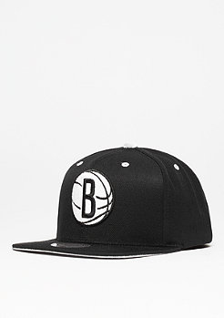 Snapback-Cap Solid Velour Logo NBA Brooklyn Nets black