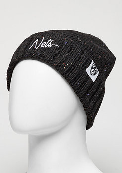 Beanie TC Heather Script NBA Brooklyn Nets black