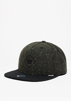 Djinn's Snapback-Cap 5P SB Rubber Tweed olive