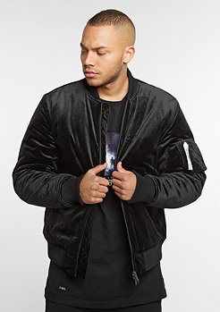 CSBL Jacket Series Bomber black velour/ white