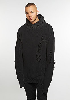 Hooded Sweatshirt BL Hoody Operator Oversized black knit