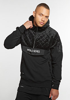 Hooded-Sweatshirt BL Series Half Zip black/white