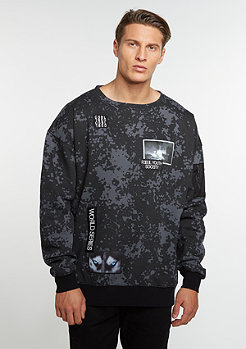 Sweatshirt Series Oversized Crewneck black camo/grey