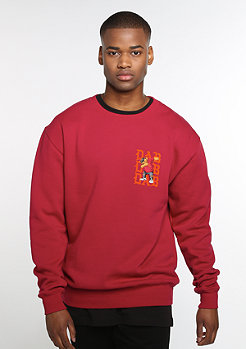 C&S WL Sweater Dabbin' Crew Crewneck red/orange/mc