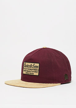 Snapback-Cap CL 1-8000 Deconstruct maroon/sand