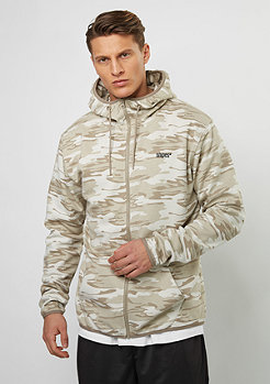Hooded-Zipper D. Camo beige/brown/grey