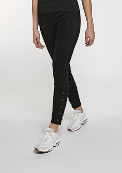 Suede Leggings black