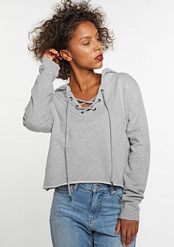 Hooded-Sweatshirt Cropped grey