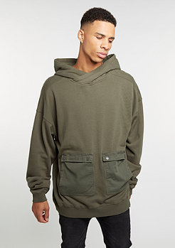 Hooded-Sweatshirt Military Hoody olive