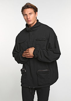 Hooded-Zipper Pocket Troyer black