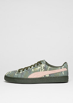 Schuh Basket Camouflage green