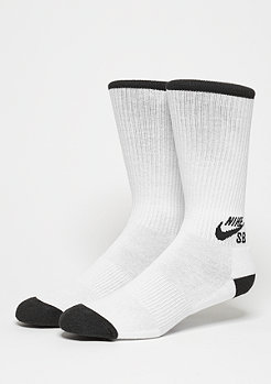 Sportsocke Crew Skateboarding Sock (3 Pair) white/black