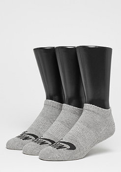 No-Show dark grey heather/black