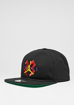 Snapback-Cap 6 OG black/spring leaf/laser orange