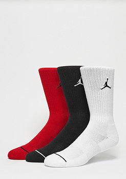 Sportsocke Jumpman Crew 3PPK black/white/gym red