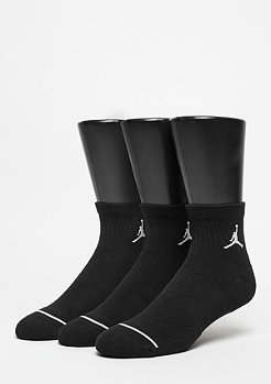 Jordan Sportsocke Unisex Jumpman High-Intensity Quarter 3Pair black/black