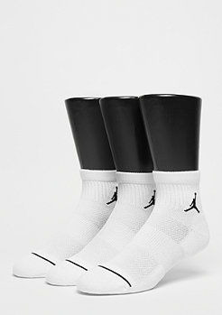 Sportsocke Unisex Jumpman High-Intensity Quarter 3 Pair white/white
