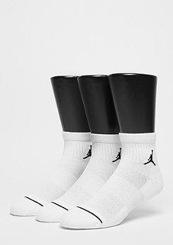 Jordan Sportsocke Unisex Jumpman High-Intensity Quarter 3 Pair white/white