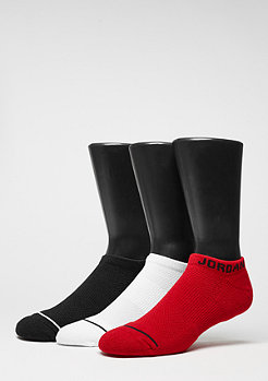 Sportsocke No-Show 3PPK black/white/gym red