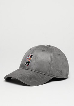 Baseball-Cap Siggi Smallz Curved grey suede/mc