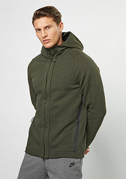 Hooded-Zipper NSW Techfleece FZ legion green/heather/black