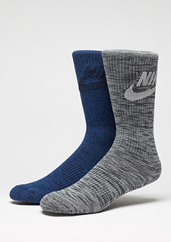 Advance Graphic Crew Men's Socks (2 Pair) Multi-Color
