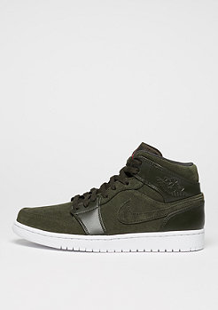 Air Jordan 1 Mid sequoia/max orange/white