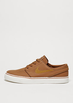 Skate-Schuh Air Zoom Stefan Janoski Leather ale brown/desert ochre/sail