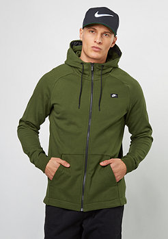 Hooded-Zipper Modern legion green