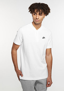 NIKE Polo GSP SS Knit white/black