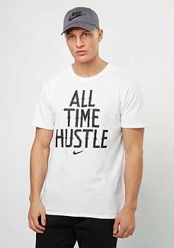 NIKE T-Shirt All Time Hustle white/white/black