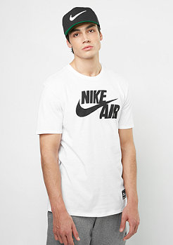 NIKE T-Shirt Air 5 white/white/black