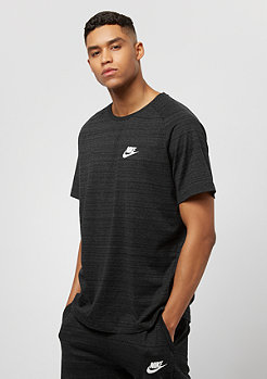 NIKE T-Shirt AV15 Top SS Knit black/htr/white